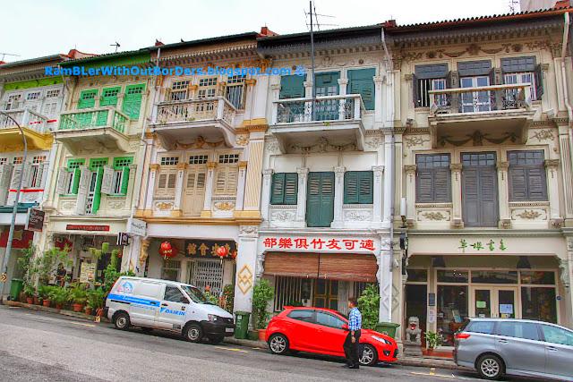 Shophouses with balconies, Bukit Pasoh St, Singapore