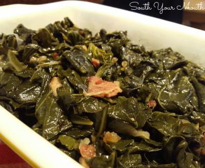 Why Southerners eat black-eyed peas and collard greens on New Year's Day and recipes for both!
