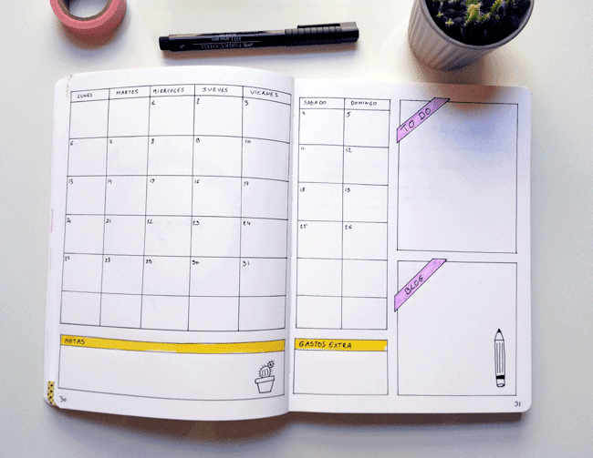calendario-mensual-bullet-journal