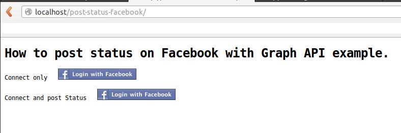 Post on Facebook using fb graph api   Nilesh's BLOG