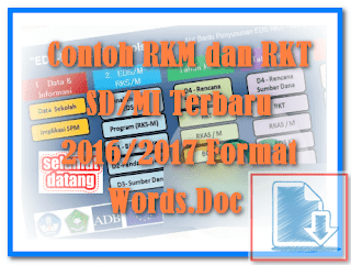 Contoh RKM dan RKT SD/MI Terbaru 2016/2017 Format Words.Doc