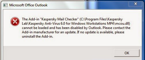 Mohaned Wageeh : Kaspersky Mail Checker Error