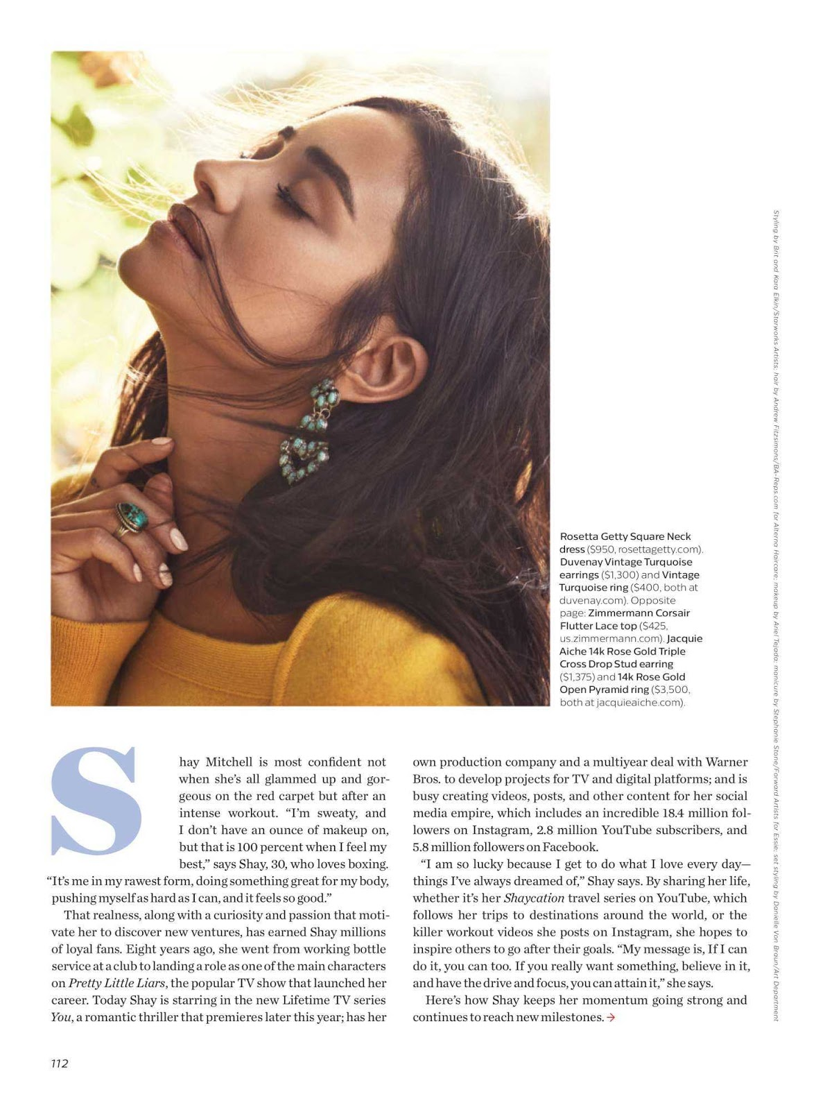 Shay Mitchell in Shape Magazine March 2018