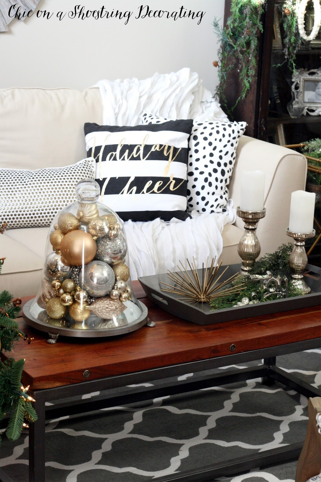 Chic on a Shoestring Decorating  Chic Christmas Decor  Merry     Chic Christmas Decor  Chic on a Shoestring Decorating Blog