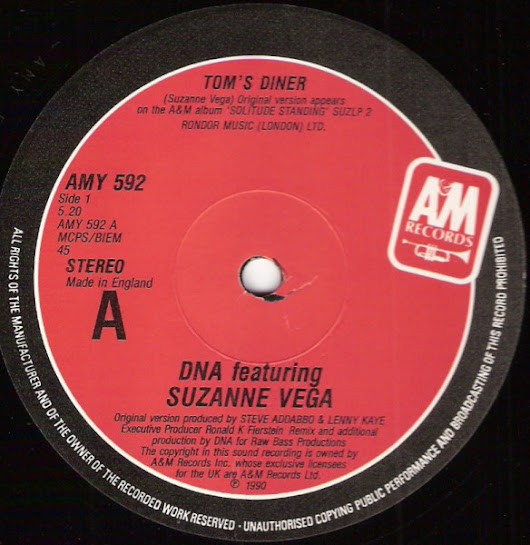 DNA FEATURING SUZANNE VEGA - TOM'S DINNER (ORIGINAL VERSION)