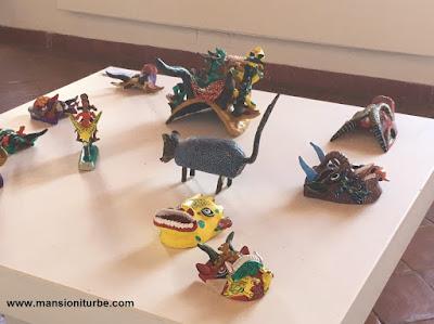 Máscaras de Ocumicho en la Exposición ARARTE en Pátzcuaro