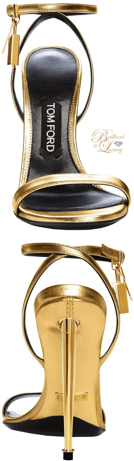 Brilliant Luxury ♦ Tom Ford Napa strap evening sandals