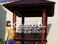 Gazebo Minimalis Sangat Cocok untuk Taman Rumah
