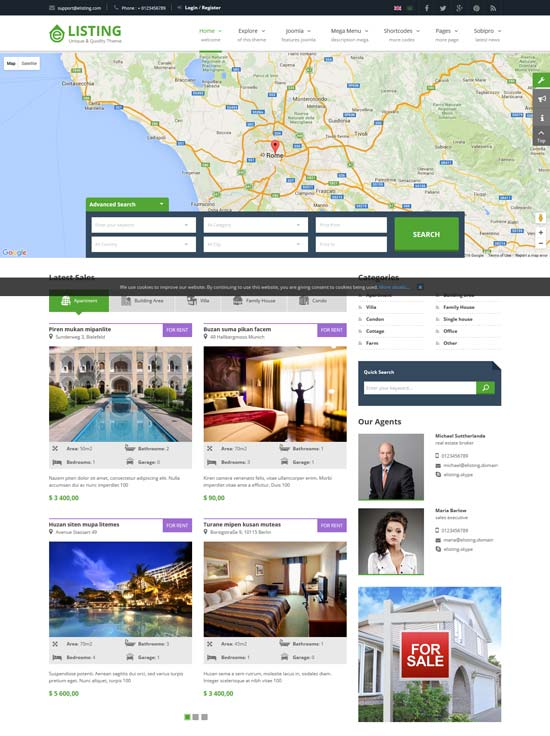 Real estate property listing template image collections best real estate property website joomla templates 2016 elisting responsive real estate joomla template pronofoot35fo image pronofoot35fo Gallery
