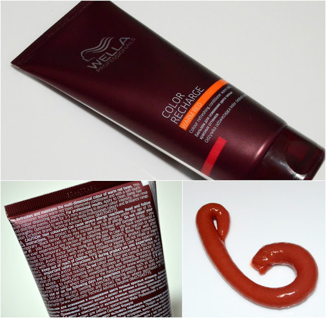 Image of the Wella Color Recharge Conditioner packaging, and colour of the conditioner