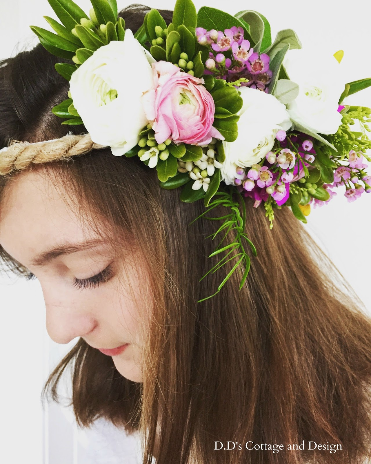 Dds cottage and design fresh flower crowns my gorgeous daughter izmirmasajfo