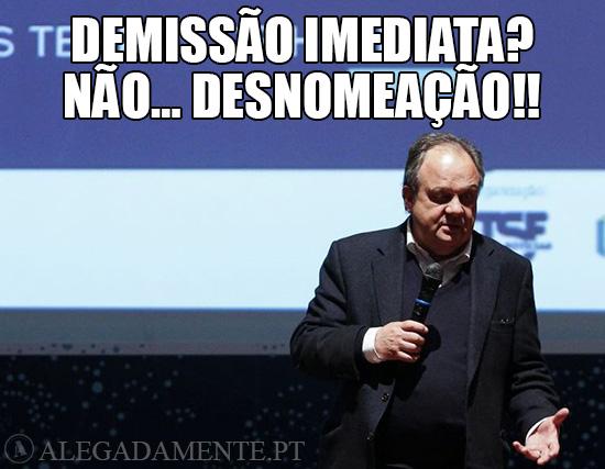 Alegadamente: Imagem de João Soares – Demissão Imediata? Não…Desnomeação!