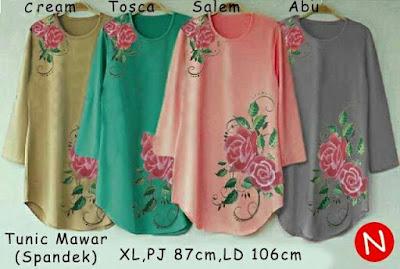 Jual Tunik Tunic Mawar (Big Size) - 12459