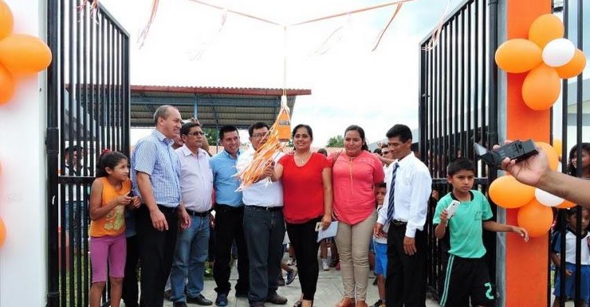 Gobierno Regional entrega nuevos locales escolares en la margen izquierda del Río Mayo - DRE San Martín - www.dresanmartin.gob.pe