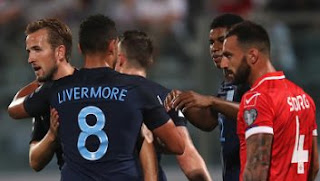 Video Gol Malta vs Inggris 0-4