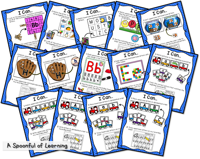 Alphabet center Activities are so much fun, your students won't realize they're learning!They're great to use during small group, independently, and more!