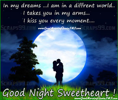 Romantic Good Night Love Quotes: in my dreams, i am in a different world.