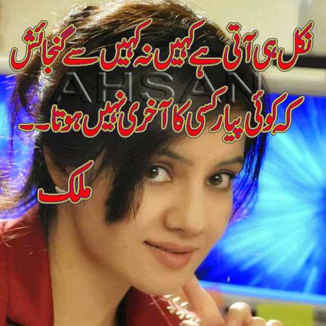 statuses for whatsapp 2017 urdu poetry sms Nikal He ati hai kahin na kahee se gunjayish