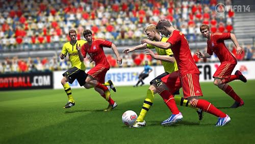 Screen Shot Of FIFA 14 (2013) Full PC Game Free Download At worldfree4u.com