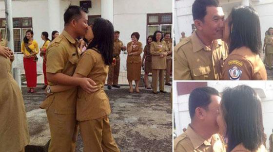 Foto Hot: PNS Nias Rayakan Valentine Dengan Ciuman Massal