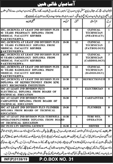 District Headquarter Hospital DHQ Jobs July 2019