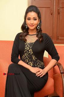 Telugu Actress Manasa Manohar Stills in Black Long Dress at Naku Nene Thopu Turumu Trailer Launch  0069.JPG