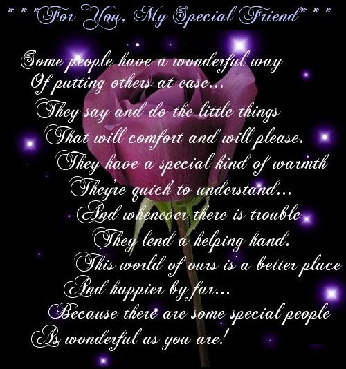 Special Friend Quote: Cute Friendship Quotes, Inspiring Friends Poems