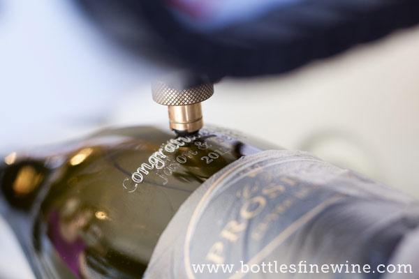 rhode island wine bottle etching engraving