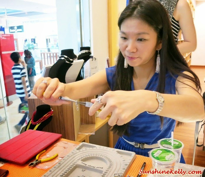 Jewellery Making Workshop, Elegant Jewellery Studio (EJS), books kinokuniya, suria klcc