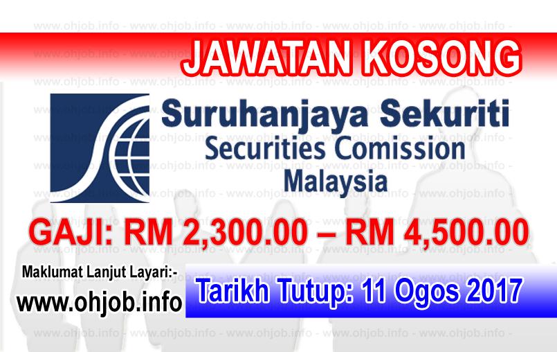 Jawatan Kerja Kosong Suruhanjaya Sekuriti Malaysia - SC logo www.ohjob.info ogos 2017