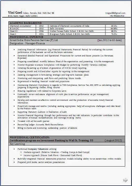 Cv Bg Format Download Free Online Resume