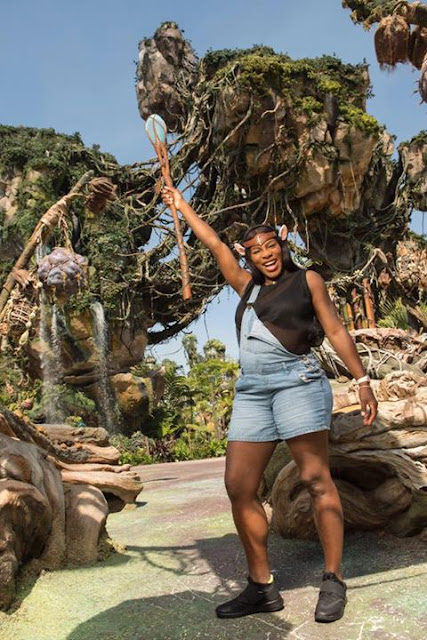 Serena Williams having good time at Disney, Pandora
