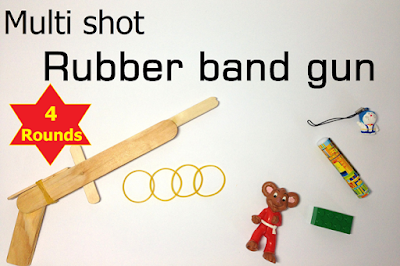 Homemade Popsicles Toy Guns rubber band
