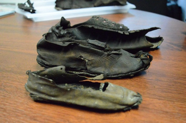 Le butin de chaussures romaines de Vindolanda