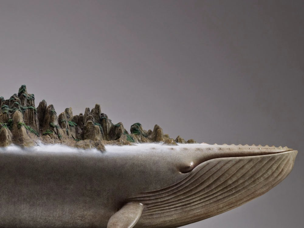 Surreal art Animal Sculptures Dream Series by Wang Ruilin whale