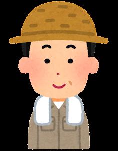 農家の男性のイラスト(笑顔)