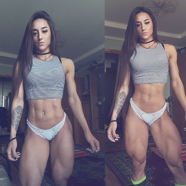 The fitness beauty Bakhar Nabieva showed how the shakes ass