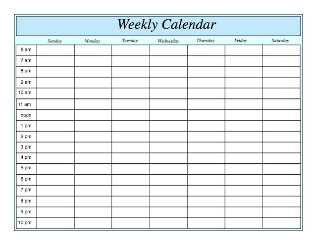 Weekly Calendar 2018, Weekly Calendar, 2018 Weekly Calendar, Weekly Calendar Template, Blank Weekly Calendar 2018, Weekly Calendar Schedule 2018
