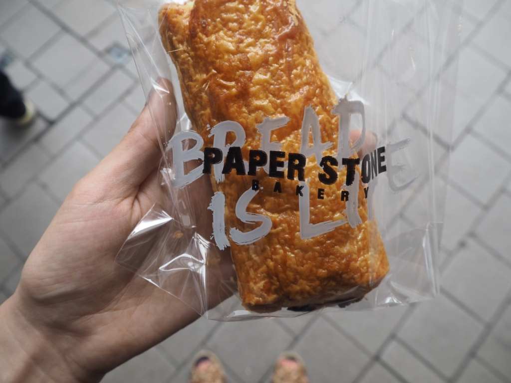 Sausage roll from Paper Stone bakery in Hong Kong