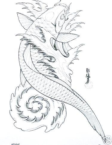 The Helpful Art Teacher Draw And Paint Koi Carp Using Traditional Japaneseandchinesetechniques