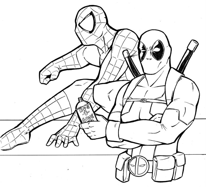 Coloring pages for kids free images deadpool free for Deadpool printable coloring pages