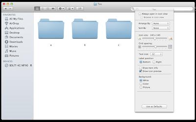 Perkecil Icon Folder di Mac OS X