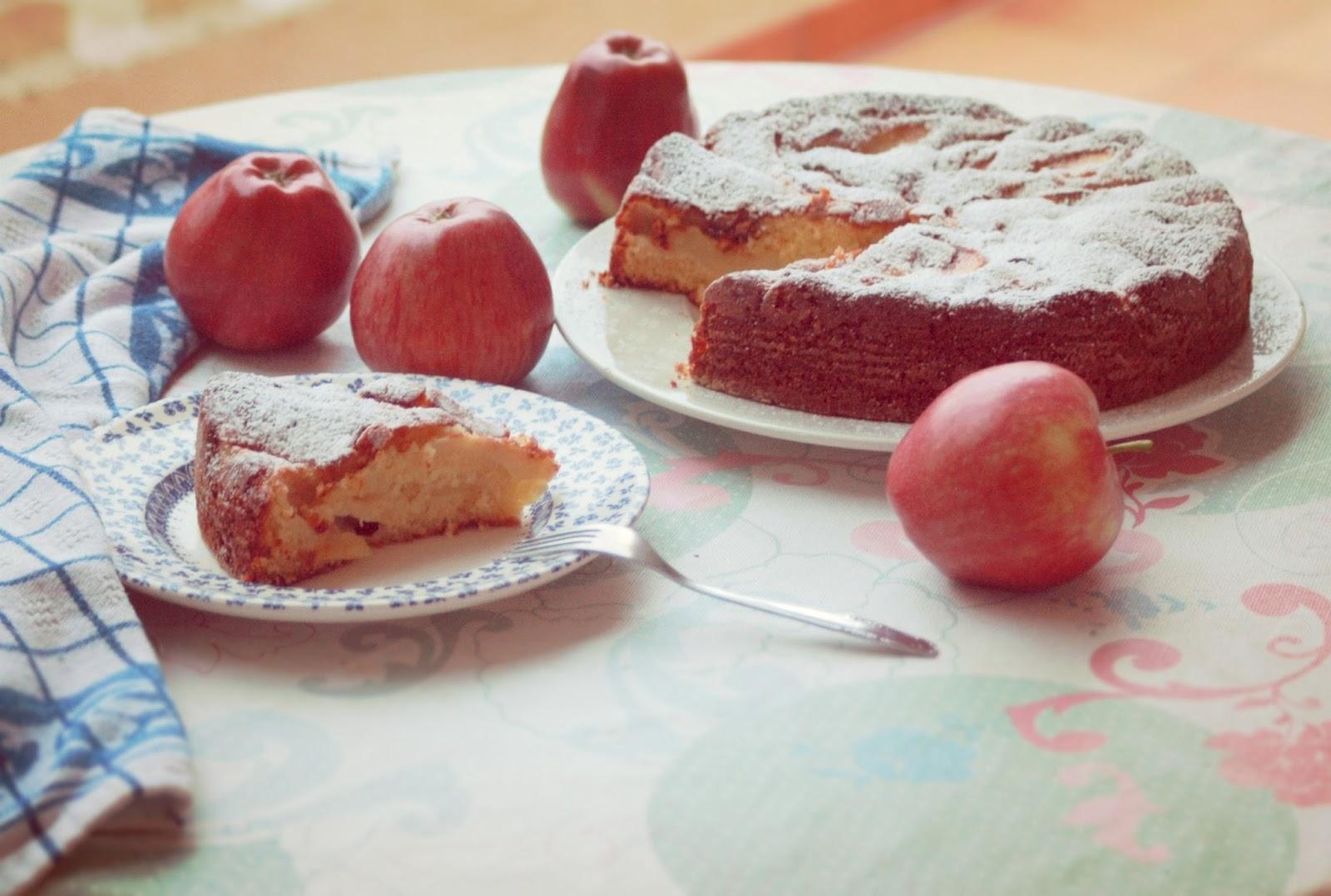 Receta bizcocho de manzana fácil
