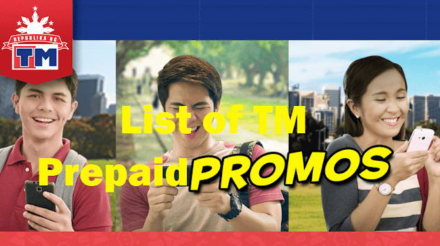 Complete List of TM Prepaid Promos 2019: Call, Text and Internet Data