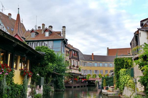 Colmar, Kanal, Stadt, klein Venedig, Blumen, Deko, Häuser