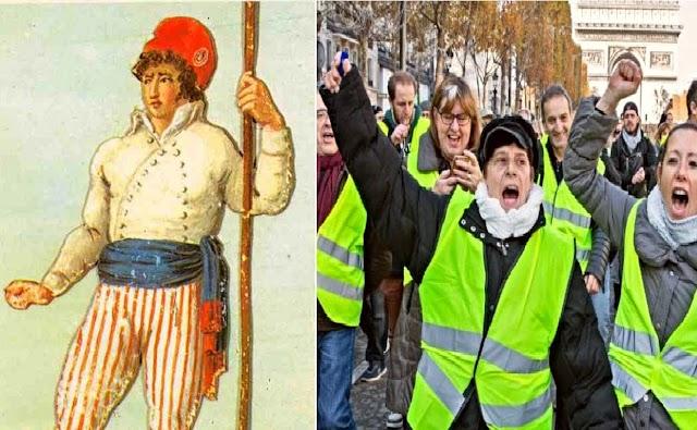 De los sans-culottes al fenómeno de los chalecos amarillos