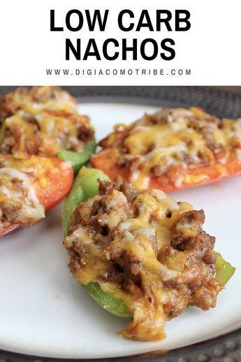 Low Carb Nachos #appetiizer #lowcarb #nachos