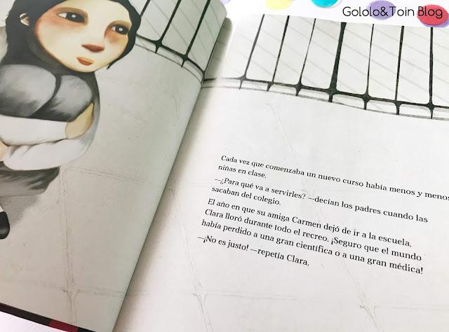 Clara Campoamor álbum ilustrado NubeOcho