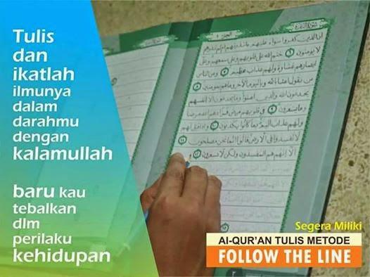 al qur an tulis metode follow the line 1 set 3 jilid