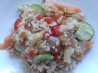 Imbir marynowany z łososiem i ryżem